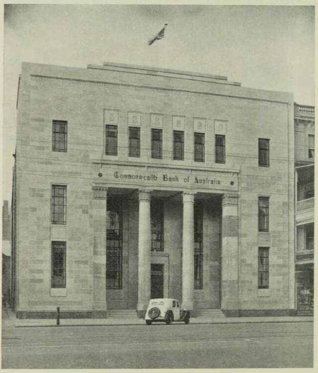 building re modernism 1935 - Cth Bank Adelaide